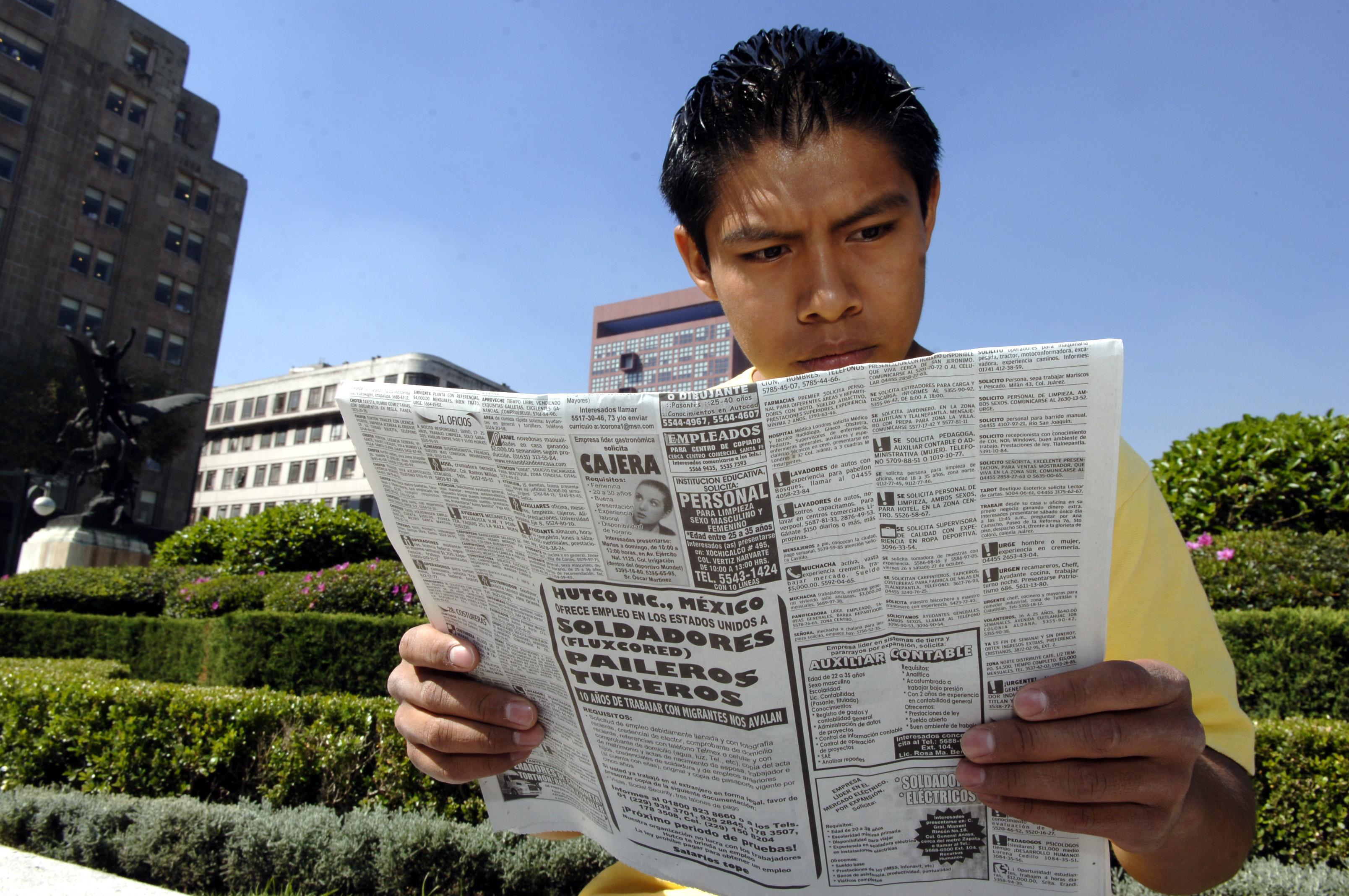 81% de mexicanos desempleados tiene menos de 44 años