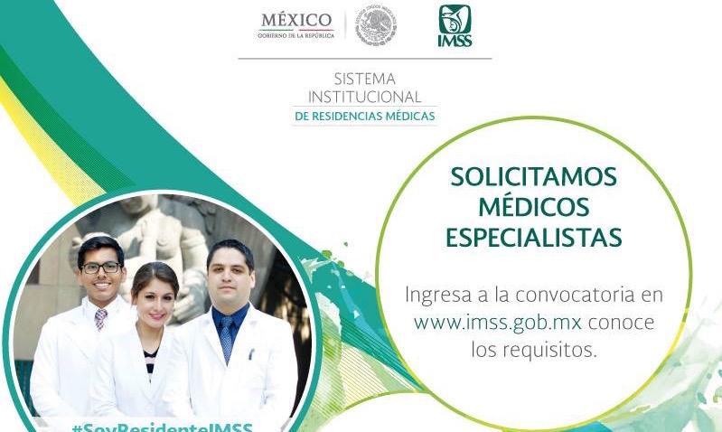 Abre contrataciones el IMSS para médicos especialistas