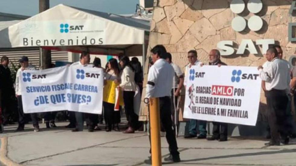 Buscarán crear sindicato ex trabajadores del SAT