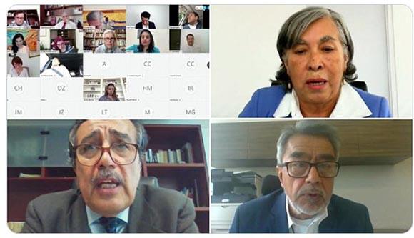 Candidatos a Centro de Conciliación presentan sus propuestas ante senadores