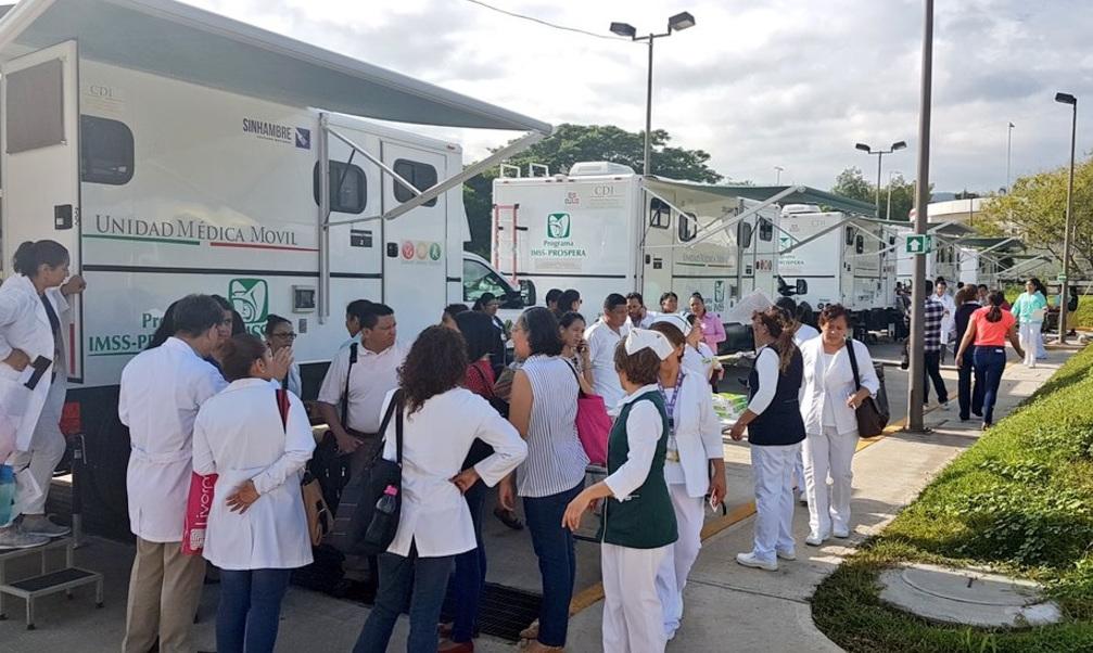 Despliega el IMSS 80 clínicas móviles