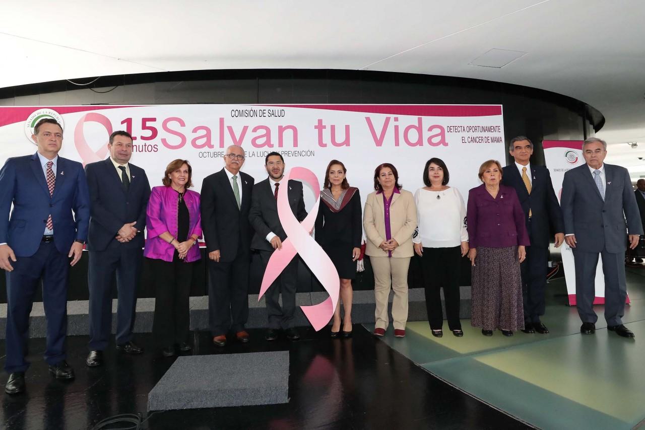 Fomenta Senado prevención y detección oportuna del cáncer de mama