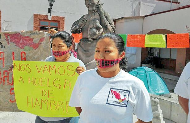 Huelga de hambre en el sindicato de salud en Oaxaca