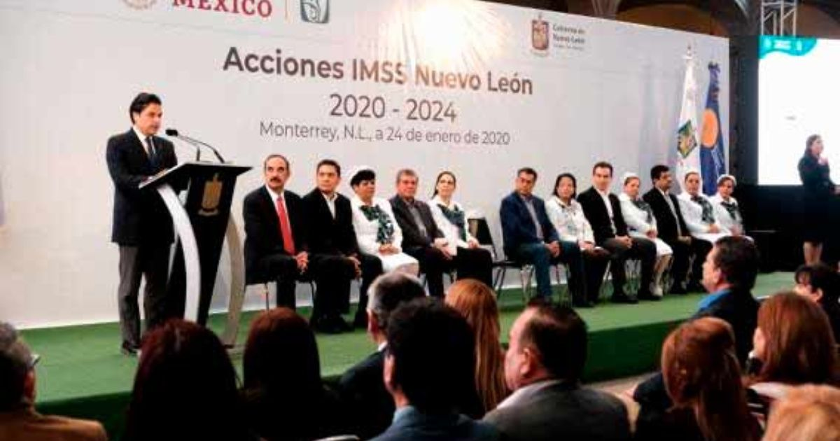 IMSS y gobierno de Nuevo León presentan plan 2020-2024