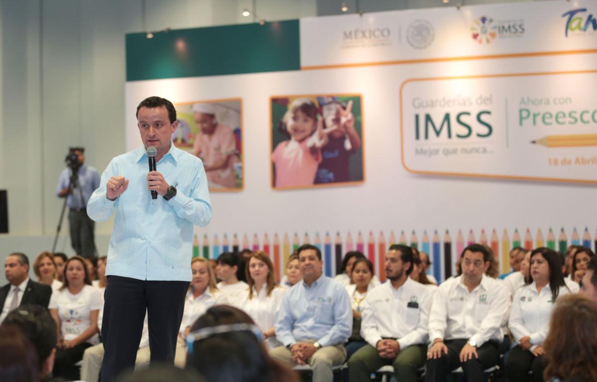 Invierte IMSS mil 500 mdp en hospitales y guarderías en Tamaulipas
