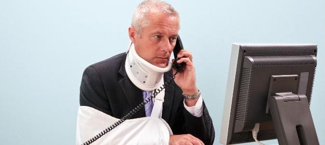 Lideran empleados de oficina accidentes laborales