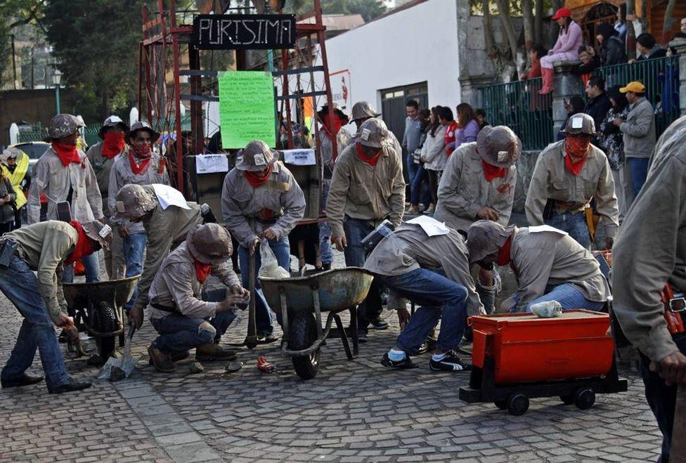 Mineros hidalguenses logran 11% de aumento