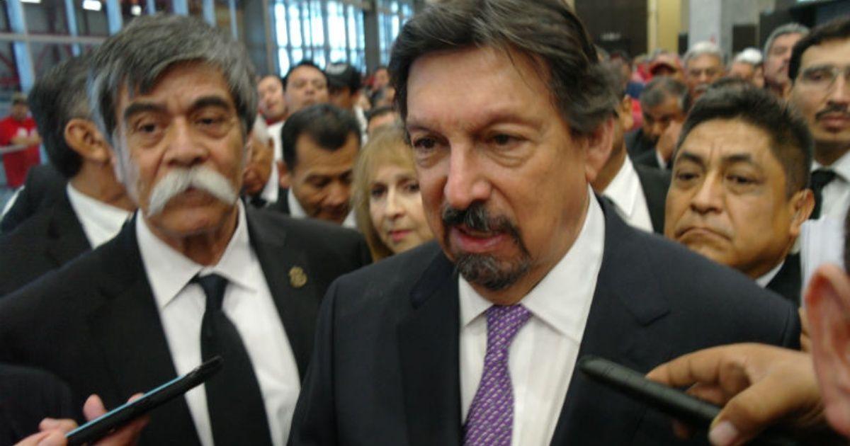Napoleón Gómez Urrutia visitó Nuevo León y es arropado por Sindicato de Mineros