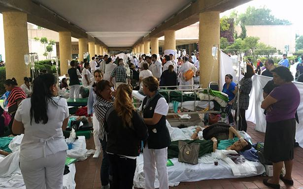 Ofrece IMSS 940 camas en urgencias tras sismo
