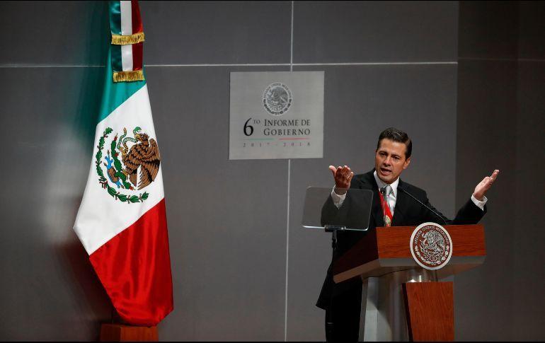 Peña Nieto destaca 4 millones de empleos en 6 años