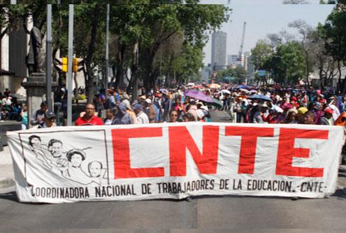 Prepara CNTE semana de terror en CDMX