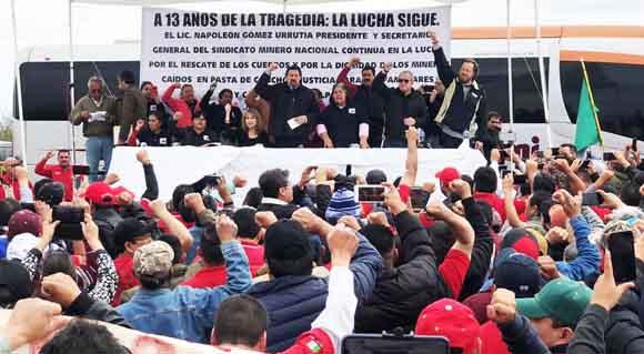 Rescate en Pasta de Conchos este sexenio, solicita Gómez Urrutia