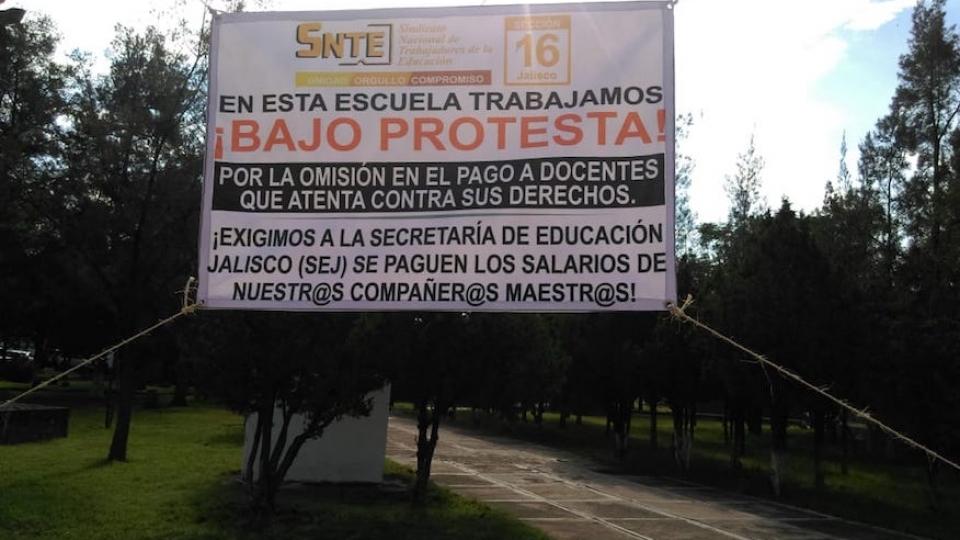 SNTE urge a SEP Jalisco pago de salarios atrasados de más de 3 mil maestros