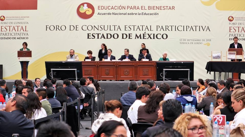 Sobresale participación del SNTE en los foros educativos, afirma Díaz de la Torre