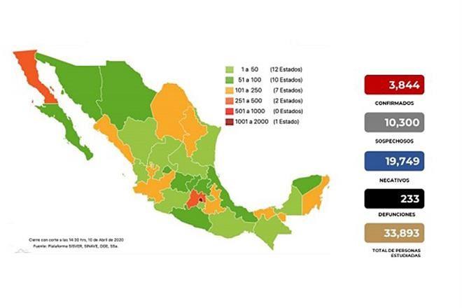 Son 39 muertos más de un día a otro en México