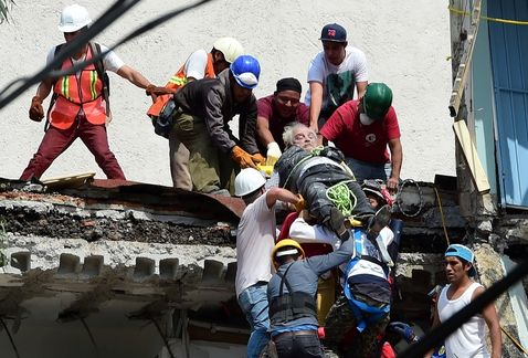 Tras terremoto quedan 307 hospitalizados, 56 están graves