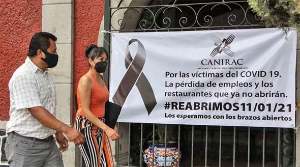 Casi tenemos un restaurante cerrado por un muerto por COVID-19: Canirac