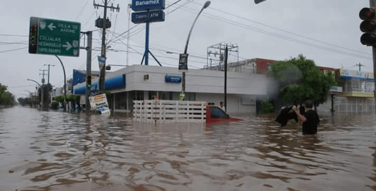 IMSS atiende a afectados por inundaciones en Sinaloa