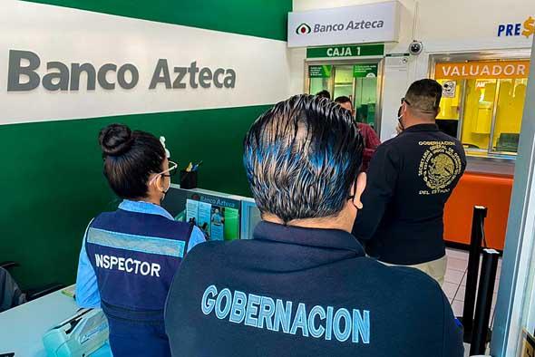 Ordenan a Banco Azteca realizar pruebas de Covid a sus empleados