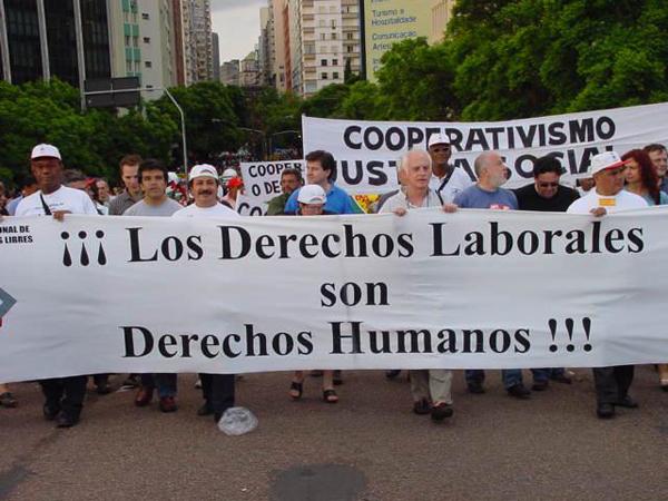 Sindicatos a favor de los derechos humanos en AL